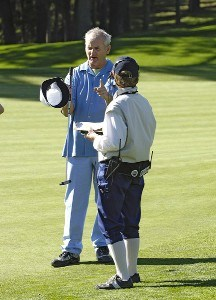Bill Murray during the first round of the  AT&T Pebble Beach National Pro-Am on Poppy Hills Golf Course in Pebble Beach, California on February 9, 2006.Photo by Marc Feldman/WireImage.com