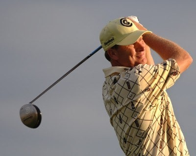 Woody Austin tees off during the first round of the 2006 Honda Classic March 9  at the Country Club at Mirasol in Palm Beach Gardens, Florida.Photo by Al Messerschmidt/WireImage.com