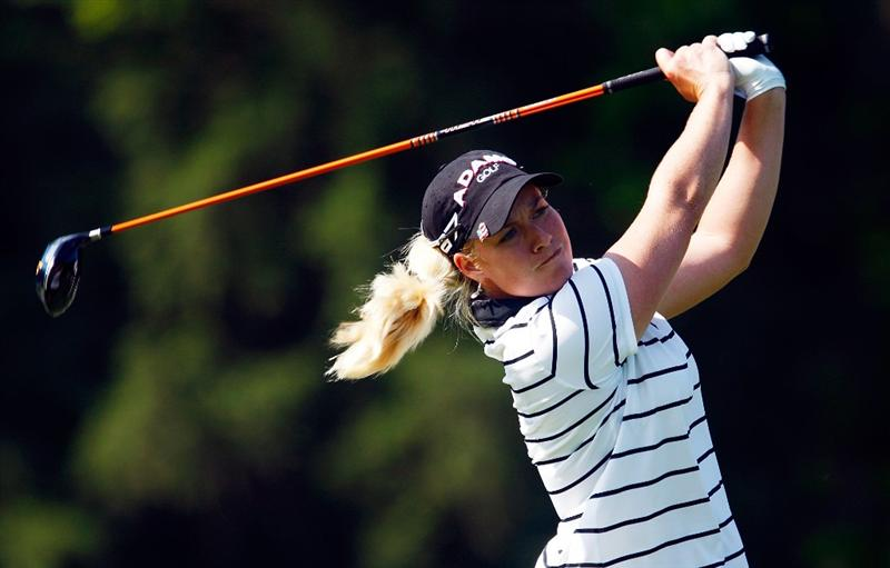 BETHLEHEM, PA - JULY 09:  Brittany Lincicome hits her tee shot on the second hole during the first round of the 2009 U.S. Women's Open at the Saucon Valley Country Club on July 9, 2009 in Bethlehem, Pennsylvania.  (Photo by Scott Halleran/Getty Images)