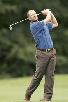 Stephen Scahill during the second round of the 2005 Smurfit European Open on the Palmer Course at the K Club in Straffan, Ireland on July 1, 2005.Photo by Pete Fontaine/WireImage.com