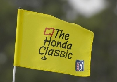 A Honda Classic flag blows stiff in high winds  on the 10th green during the second round of The 2007 Honda Classic on March 2, 2007 in Palm Beach Gardens, Florida. Photo by Al Messerschmidt/WireImage.com