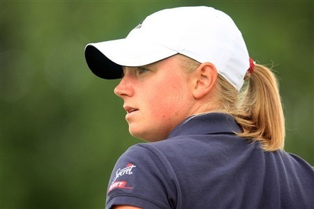 EDINA, MN - JUNE 28:  Stacy Lewis waits on the 17th tee during the third round of the 2008 U.S. Women's Open at Interlachen Country Club on June 28, 2008 in Edina, Minnesota.  (Photo by Scott Halleran/Getty Images)