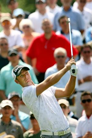 PONTE VEDRA BEACH, FL - MAY 07:  Richard S. Johnson of Sweden plays his tee shot on the third hole during the first round of THE PLAYERS Championship on THE PLAYERS Stadium Course at TPC Sawgrass on May 7, 2009 in Ponte Vedra Beach, Florida.  (Photo by Scott Halleran/Getty Images)