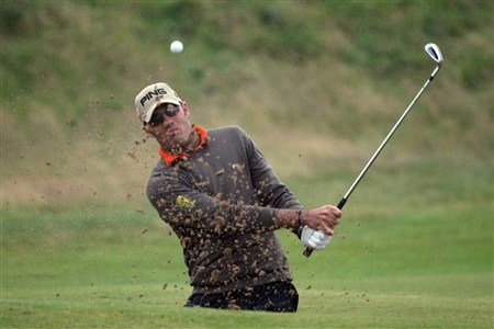 SOUTHPORT, UNITED KINGDOM - JULY 18:  Gregory Havret of France plays out of a bunker on the 1st during the second round of the 137th Open Championship on July 18, 2008 at Royal Birkdale Golf Club, Southport, England.  (Photo by Andy Lyons/Getty Images)