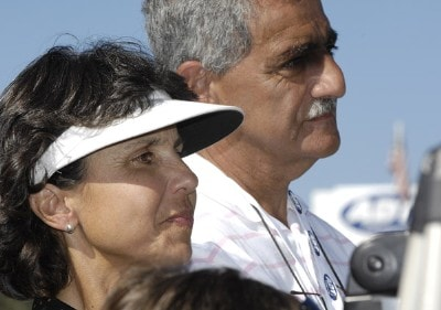 The parents of Julieta Granada watch as their daughter receives her $1 million dollar prize for winning the ADT Championship at the Trump International Golf Club in West Palm Beach, Florida on Sunday, November 19, 2006. Photo by Steve Levin/WireImage.com