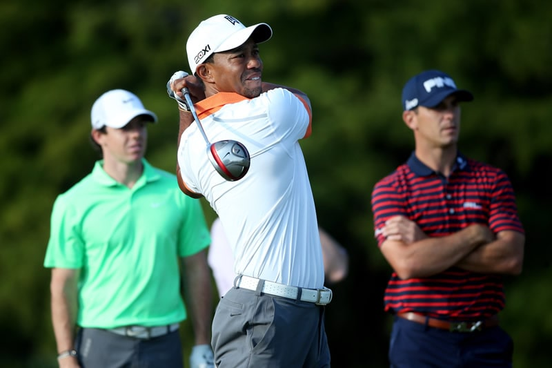Tiger Woods, Rory McIlroy and Billy Horschel