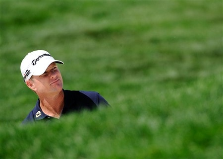 BLOOMFIELD HILLS, MI - AUGUST 07: Scott Verplank looks up to the 18th green during round one of the 90th PGA Championship at Oakland Hills Country Club on August 7, 2008 in Bloomfield Township, Michigan.  (Photo by Sam Greenwood/Getty Images)