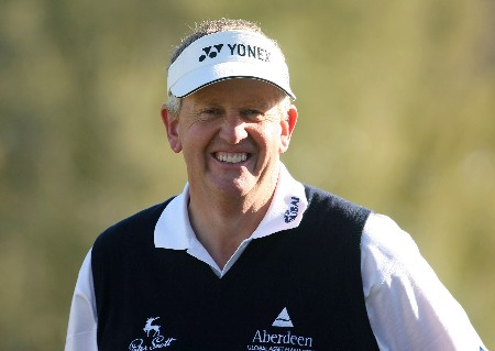MARANA, AZ - FEBRUARY 21:  Colin Montgomerie of Scotland smiles during the second round matches of the WGC-Accenture Match Play Championship at The Gallery at Dove Mountain February 21, 2008 in Marana, Arizona.  (Photo by Scott Halleran/Getty Images)