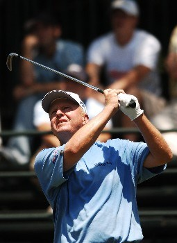 Billy Mayfair hits from eighth tee during the third round of the 2005 Bank of America Colonial at Colonial Country Club in Forth Worth, Texas May 21, 2005.Photo by Steve Grayson/WireImage.com