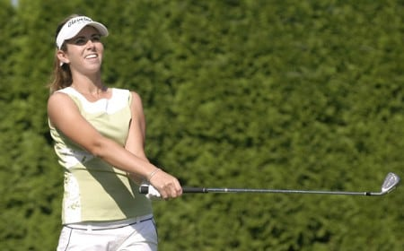 Erica Blasberg during the second round of the 2005 Safeway Classic at Columbia Edgewater Country Club in Portland, Oregon on Saturday, August 20, 2005.Photo by Allan Campbell/WireImage.com