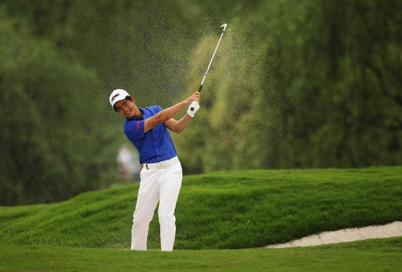 CHENGDU, CHINA - APRIL 21:  Liang Wen-chong of China in action during first round of the Volvo China Open at Luxehills Country Club on April 21, 2011 in Chengdu, China.  (Photo by Ian Walton/Getty Images)