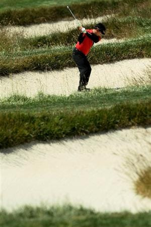 PEBBLE BEACH, CA - JUNE 17:  Y.E. Yang of South Korea plays a shot on the third hole during the first round of the 110th U.S. Open at Pebble Beach Golf Links on June 17, 2010 in Pebble Beach, California.  (Photo by Jeff Gross/Getty Images)