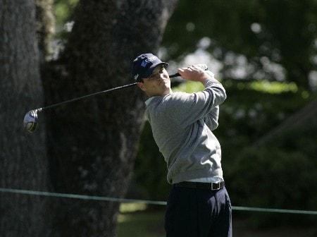 Zach Johnson tees off from the third hole during the third round of the MCI Heritage at Harbour Town Golf Links at Hilton Head Island, April 16, 2005.Photo by Kevin Cox/WireImage.com