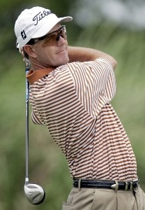 Stephen Leaney during the final round of the Zurich Classic of New Orleans at the English Turn Golf & Country Club in New Orleans, Louisiana on April 30, 2006.Photo by Gregory Shamus/WireImage.com