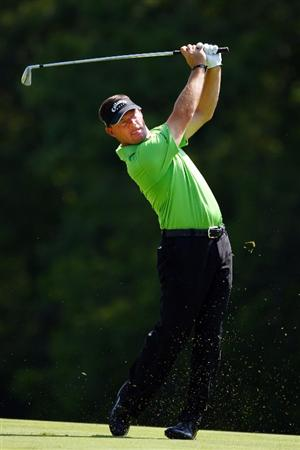 PONTE VEDRA BEACH, FL - MAY 08:  Alex Cejka of Germany plays plays his approach shot on the 14th hole during the second round of THE PLAYERS Championship on THE PLAYERS Stadium Course at TPC Sawgrass on May 8, 2009 in Ponte Vedra Beach, Florida.  (Photo by Richard Heathcote/Getty Images)