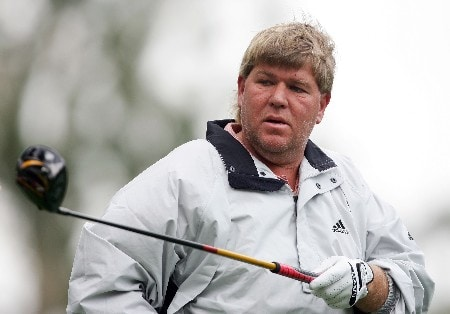 LOS ANGELES, CA - FEBRUARY 14:  John Daly walks off the ninth tee during the first round of the Northern Trust Open at the Riviera Country Club on February 14, 2008 in Los Angeles, California.  (Photo by Harry How/Getty Images)