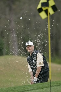 Gary Koch hits from a bunker at #16 during the first round of the 2006 Outback Steakhouse Pro-Am held at TPC of Tampa Bay in Lutz, Florida, on February 24, 2006.Photo by: Chris Condon/PGA TOUR