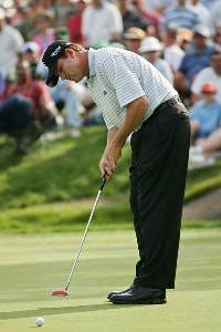 Shaun Micheel during the third round of the 2006 Wachovia Championship at the Quail Hollow Club in Charlotte, North Carolina on May 6, 2006.Photo by Sam Greenwood/WireImage.com