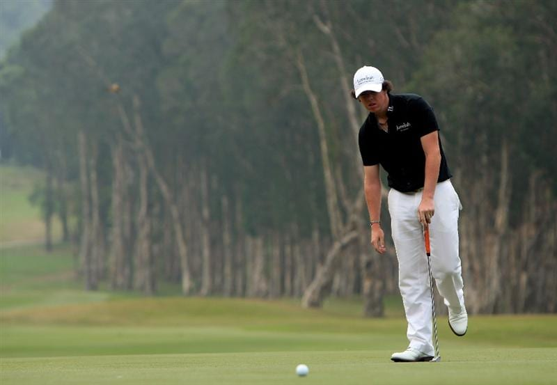 HONG KONG, CHINA - NOVEMBER 23:  Rory McIlroy of Northern Ireland reacts to a missed putt on the sixth hole during the final round of the UBS Hong Kong Open at the Hong Kong Golf Club on November 23, 2008 in Fanling, Hong Kong.  (Photo by Stuart Franklin/Getty Images)