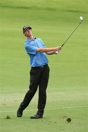 SYDNEY, AUSTRALIA - DECEMBER 11:  Brett Rankin of Australia plays an approach shot on the thirteenth hole during the first round of the 2008 Australian Open at The Royal Sydney Golf Club on December 11, 2008 in Sydney, Australia.  (Photo by Mark Nolan/Getty Images)