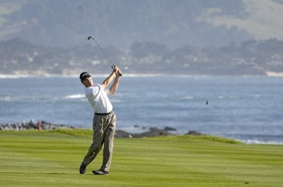 Arron Oberholser during the final round of the  AT&T Pebble Beach National Pro-Am on Pebble Beach Golf Links in Pebble Beach, California on February 12, 2006.Photo by Marc Feldman/WireImage.com