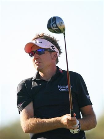 SCOTTSDALE, AZ - FEBRUARY 25: Ian Poulter of England watches his tee shot on the 14th hole during the first round of the Waste Management Phoenix Open at TPC Scottsdale on February 25, 2010 in Scottsdale, Arizona. (Photo by Hunter Martin/Getty Images)