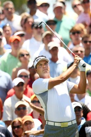 PONTE VEDRA BEACH, FL - MAY 09:  Daniel Chopra of Sweden watches his tee shot on the third hole during the third round of THE PLAYERS Championship on THE PLAYERS Stadium Course at TPC Sawgrass on May 9, 2009 in Ponte Vedra Beach, Florida.  (Photo by Scott Halleran/Getty Images)