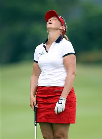 SINGAPORE - FEBRUARY 27:  Angela Stanford of the USA during the third round of the HSBC Women's Champions at the Tanah Merah Country Club on February 27, 2010 in Singapore.  (Photo by Ross Kinnaird/Getty Images)