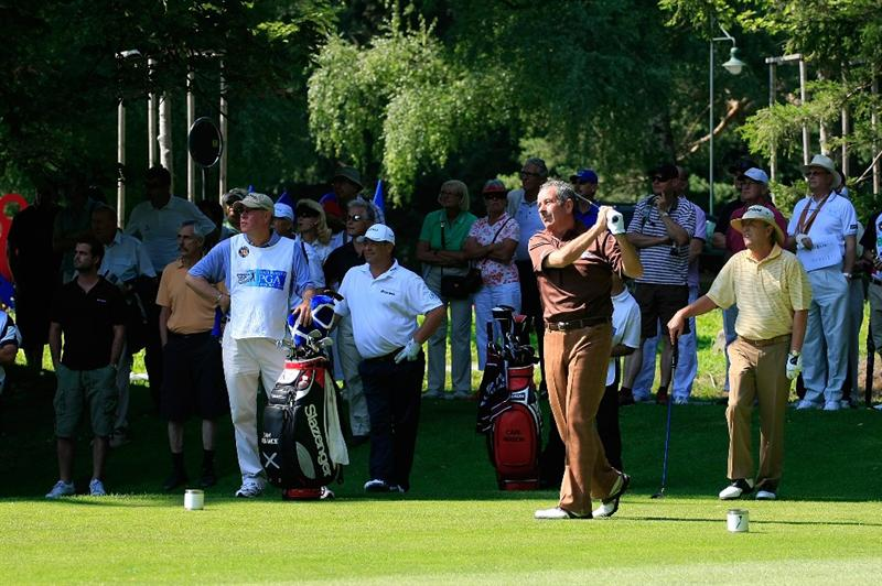 BAD RAGAZ, SWITZERLAND - AUGUST 08:  Sam Torrance of Scotland watches on the 2nd hole during the first round of the Bad Ragaz PGA Seniors Open played at Grand Resort Bad Ragaz on August 8, 2008 in Bad Ragaz, Switzerland.  (Photo by Phil Inglis/Getty Images)