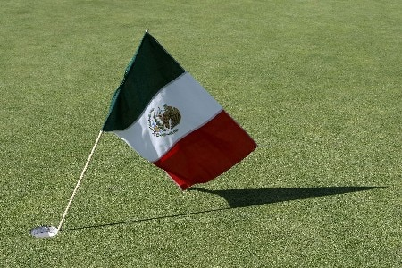 PORTLAND, OR - AUGUST 26: A Mexican flag rests in the 18th hole after Lorena ochoa's vcitory  during the final round of LPGA Safeway Classic at the Columbia Edgewater Country Club on August 26, 2007 in Portland, Oregon.  (Photo by Jonathan Ferrey/Getty Images)