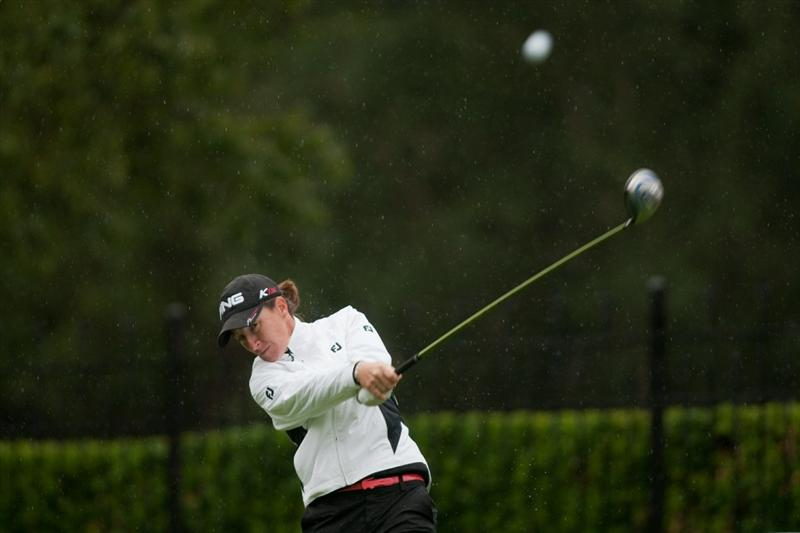 DANVILLE, CA - OCTOBER 17: Gwladys Nocera of France follows through on a tee shot during the final round of the CVS/Pharmacy LPGA Challenge at Blackhawk Country Club on October 16, 2010 in Danville, California. (Photo by Darren Carroll/Getty Images)