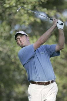 Jeff Gove during the first round of the Nationwide Tour Championship held  on the Senator course at Capitol Hill GC in Prattville, Alabama on Thursday, October 27, 2005.Photo by Sam Greenwood/WireImage.com