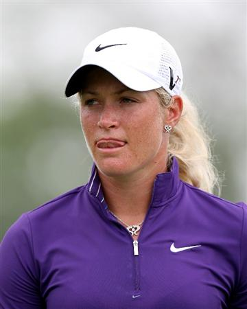 SINGAPORE - FEBRUARY 27:  Suzann Peterssen of Norway during the third round of the HSBC Women's Champions at the Tanah Merah Country Club on February 27, 2010 in Singapore.  (Photo by Ross Kinnaird/Getty Images)