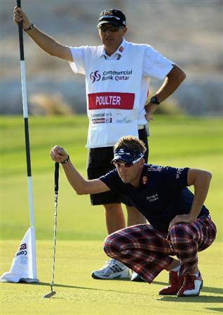 DOHA, QATAR - FEBRUARY 04:  Ian Poulter of England in action during the second round of the Commercialbank Qatar Masters held at Doha Golf Club on February 4, 2011 in Doha, Qatar.  (Photo by Andrew Redington/Getty Images)