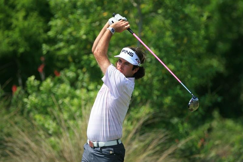 NEW ORLEANS, LA - APRIL 30: Bubba Watson hits his tee shot on the 11th hole during the third round of the Zurich Classic at the TPC Louisiana on April 30, 2011 in New Orleans, Louisiana. (Photo by Hunter Martin/Getty Images)