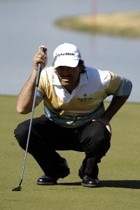 Carlos Franco in action during the third round of the 2006 Chrysler Classic of Tucson on Saturday, February 25, 2006 at the Omni Tucson National Golf Resort and Spa in Tucson, ArizonaPhoto by Marc Feldman/WireImage.com