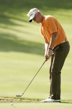 Peter Hedblom during the second round of the 2005 Omega European Masters at the Crans-sur-Sierre Golf Club in Crans-Montana, Switzerland on September 2, 2005.Photo by Pete Fontaine/WireImage.com