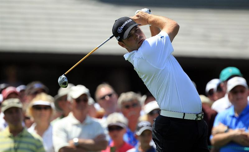 ORLANDO, FL - MARCH 24:  Gary Woodland of the USA plays his tee shot at the 1st hole during the first round of the 2011 Arnold Palmer Invitational presented by Mastercard at the Bay Hill Lodge and Country Club on March 24, 2011 in Orlando, Florida.  (Photo by David Cannon/Getty Images)