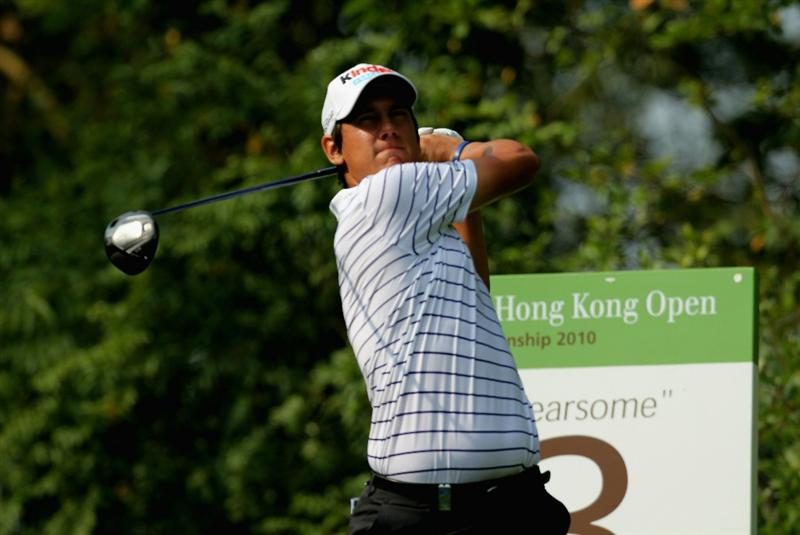 HONG KONG - NOVEMBER 19: Matteo Manassero of Italy plays a tee shot on the 3rd hole during day two of the UBS Hong Kong Open at The Hong Kong Golf Club on November 19, 2010 in Hong Kong, Hong Kong.  (Photo by Stanley Chou/Getty Images)