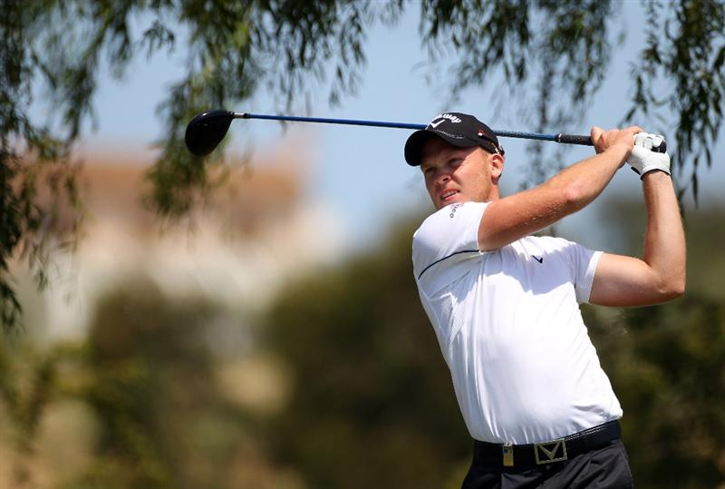 MALLORCA, SPAIN - MAY 12:  Danny Willett of England tees off on the 9th hole during day one of the Iberdrola Open at Pula Golf Club on May 12, 2011 in Mallorca, Spain.  (Photo by Julian Finney/Getty Images)