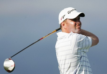 CHRISTCHURCH, NEW ZEALAND - FEBRUARY 14:  Matt Bettencourt of the USA tees off the 15th hole during day one of the NZPGA Championship at Clearwater Golf Club on February 14, 2008 in Christchurch, New Zealand.  (Photo by Sandra Mu/Getty Images)