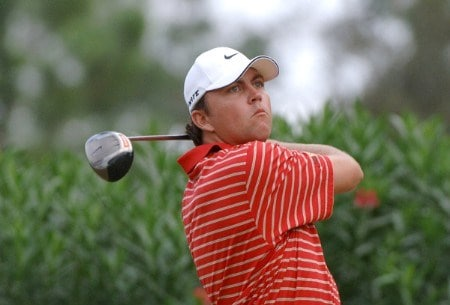 Bo Van Pelt drives from the 14th tee during the final round of the 2005 Chrysler Championship at the Westin Innsbrook Resort, Copperhead Course in Palm Harbor, Florida on October 30, 2005.Photo by Al Messerschmidt/WireImage.com