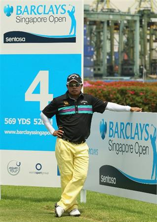 SINGAPORE - NOVEMBER 13:  Prayad Marksaeng of Thailand looks down the 4th hole during the 3rd Round of the Barclays Singapore Open at Sentosa Golf Club on November 13, 2010 in Singapore, Singapore.  (Photo by Ian Walton/Getty Images)