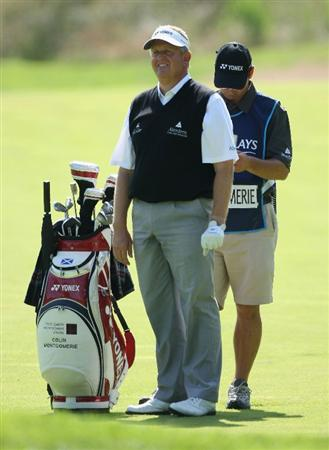 LUSS, SCOTLAND - JULY 11:  Colin Montgomerie of Scotland waits to play on the 15th hole during the Third Round of The Barclays Scottish Open at Loch Lomond Golf Club on July 11, 2009 in Luss, Scotland.  (Photo by Andrew Redington/Getty Images)