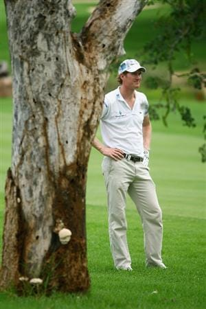 NELSPRUIT, SOUTH AFRICA - DECEMBER 12:  Will Besseling of Holland prepares to play his second shot into the ninth green during the second round of the Alfred Dunhill Championship at Leopard Creek Country Club on December 12, 2008 in Malelane, South Africa.  (Photo by Warren Little/Getty Images)