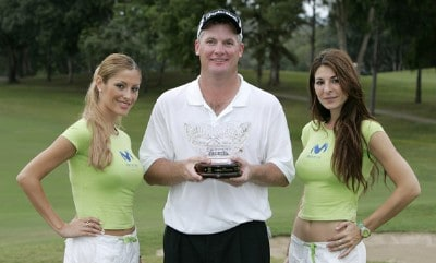 Tripp Isenhour  shot -11 under par to win the Movistar Panama Championship, January 29,2006, held at Club de Golf de Panama, Panama City, Republica De Panama.  He was awarded the winner's trophy and a check for $99,000.00 . Photo by: Stan Badz/PGA TOUR