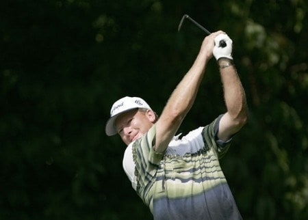 Woody Austin during the first round of the 2005 PGA Championship at Baltusrol Golf Club in Springfield, New Jersey on August 11, 2005.Photo by Christopher Condon/WireImage.com