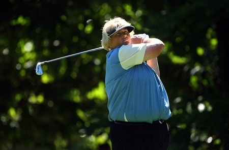 EVIAN, FRANCE - JULY 24:  Laura Davies of England hits her tee-shot on the third hole during the first round of the Evian Masters at the Evian Masters Golf Club on July 24, 2008 in Evian, France.  (Photo by Andrew Redington/Getty Images)