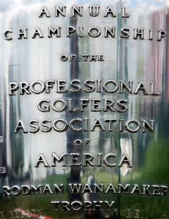 CHASKA, MN - AUGUST 16:  The Wanamaker Trophy is seen during the final round of the 91st PGA Championship at Hazeltine National Golf Club on August 16, 2009 in Chaska, Minnesota.  (Photo by Streeter Lecka/Getty Images)