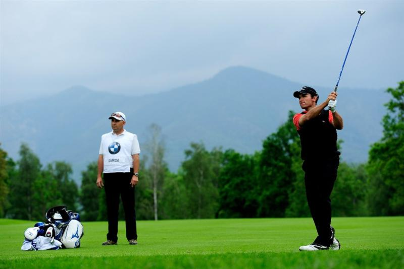 TURIN, ITALY - MAY 09:  Ignacio Garrido of Spain plays his approach shot on the 11th hole during the final round of the BMW Italian Open at Royal Park I Roveri on May 9, 2010 in Turin, Italy.  (Photo by Stuart Franklin/Getty Images)